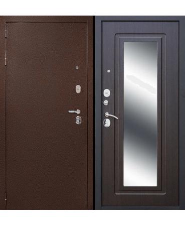 """Входная дверь ДК """"ГАРАНТ-1"""" Зеркало (Венге)"""