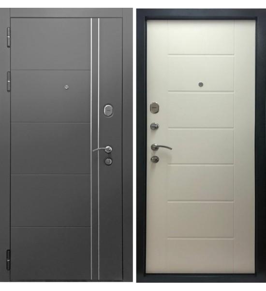 Входная дверь Дверной континент ТЕПЛОЛЮКС (Графит / Беленый Дуб)