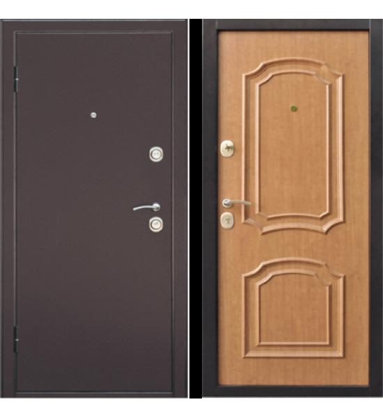 Входная дверь Интерио светлый орех