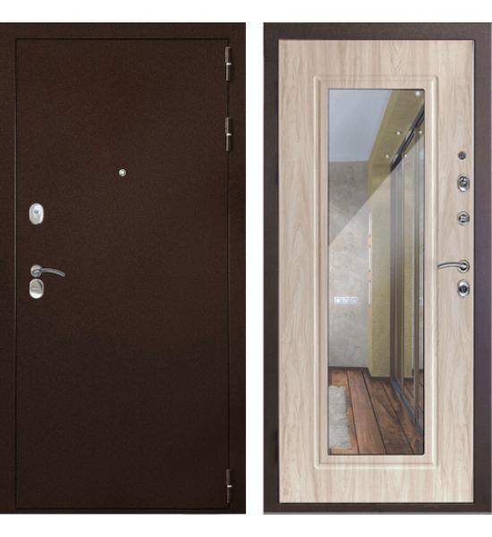 """Входная дверь ДК """"ГАРАНТ-1"""" Зеркало (Сандал белый)"""